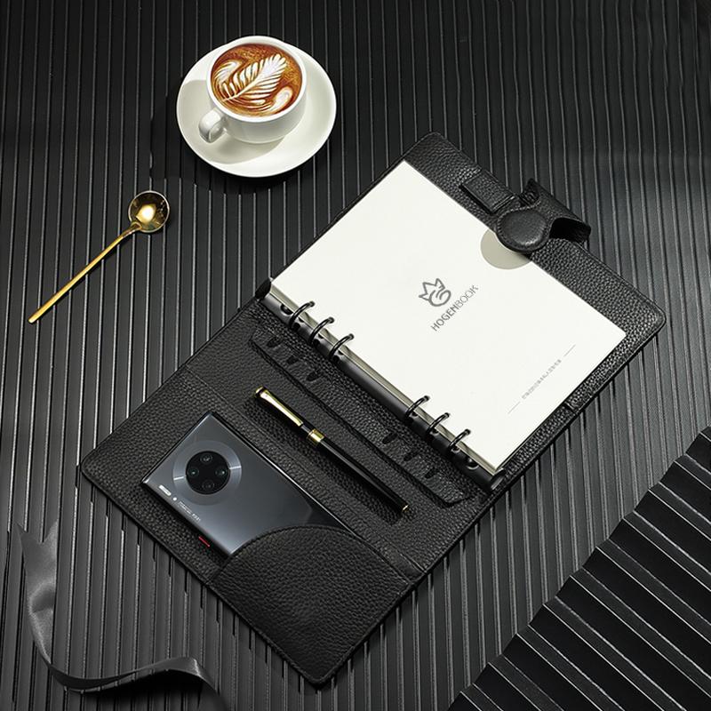 商务笔记本高档真皮工作本