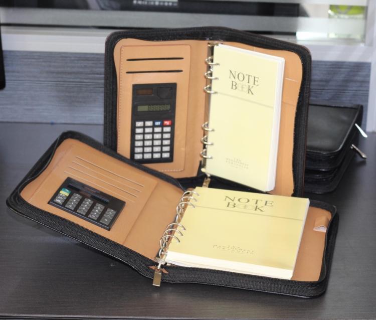 拉链笔记本活页带计算器