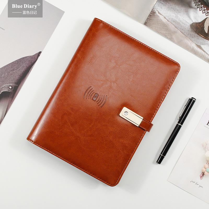 商务充电笔记本子多功能带u盘